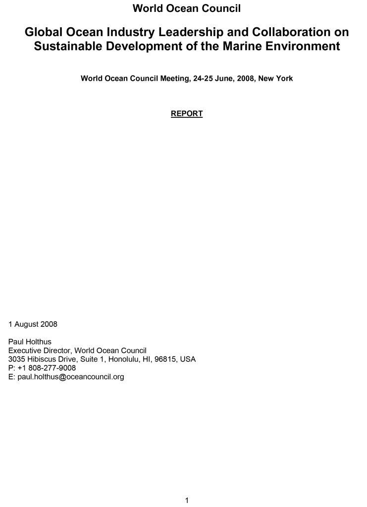Microsoft Word - WOC meeting NY 24-25 June 08 REPORT FINAL.doc