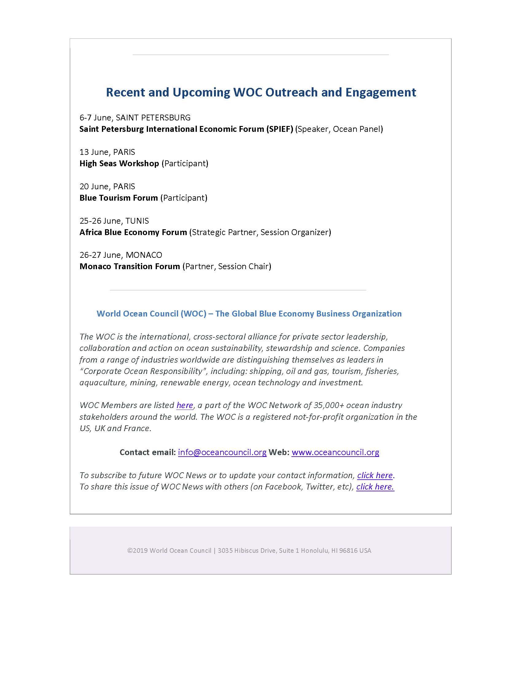 ECOncrete Joins World Ocean Council (WOC) - 8 June 2019
