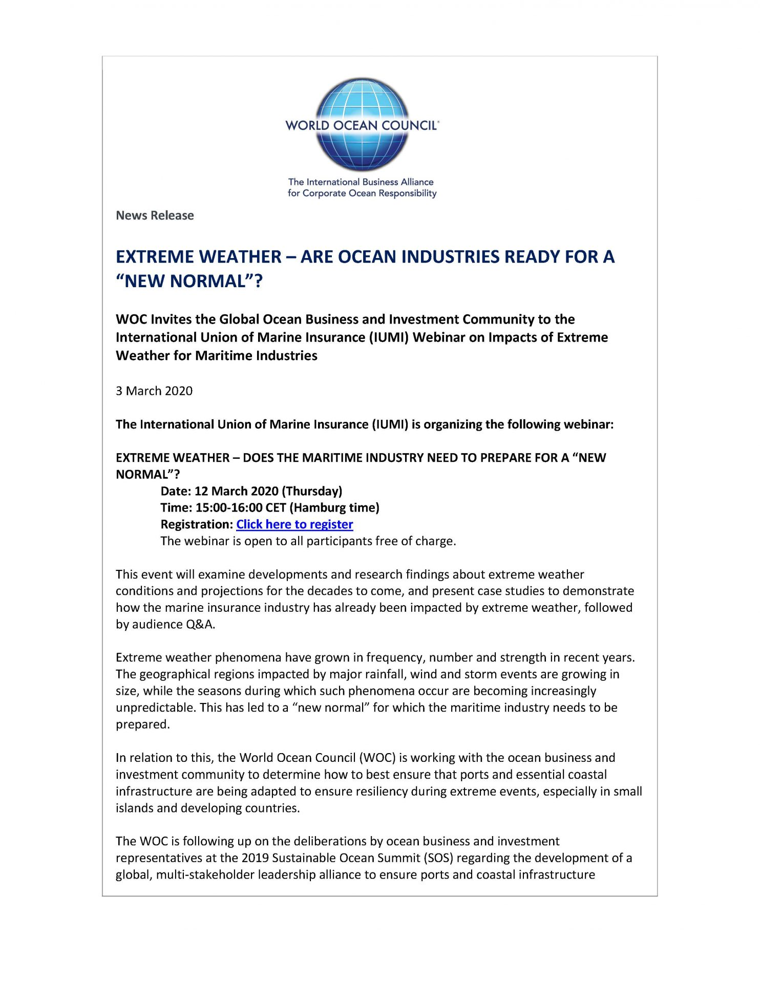 Extreme Weather Are Ocean Industries Ready For A New Normal
